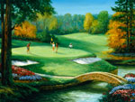 Golf Scenes Putting mural
