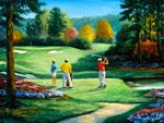 Golf Scenes Tee Off mural