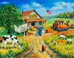 Aunt Fays Market - Panoramic mural