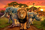 African Beasts mural