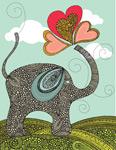Cute Elephant mural