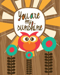 My Sunshine Owl mural