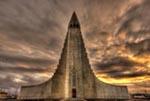 Reykjavik Church mural