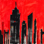 City Scape-Red