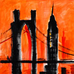 City Scape-Orange