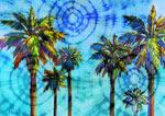 Tiedye Palms mural