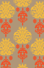 Pattern Pillow Tangerine