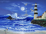 Lighthouse Romance mural