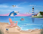 Lighthouse Beach mural
