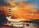 Majestic Lighthouse mural