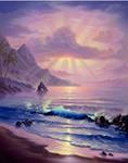 Maui Sunrise mural