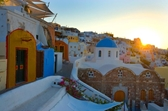 Sunrise on Santorini Island, Greece  mural
