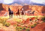 Canyon Horses mural