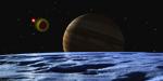 Io Eclipsing Europa mural