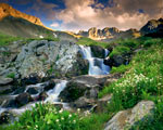 American Basin With Clouds mural