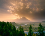 Clearing Storm Tetons Wyoming